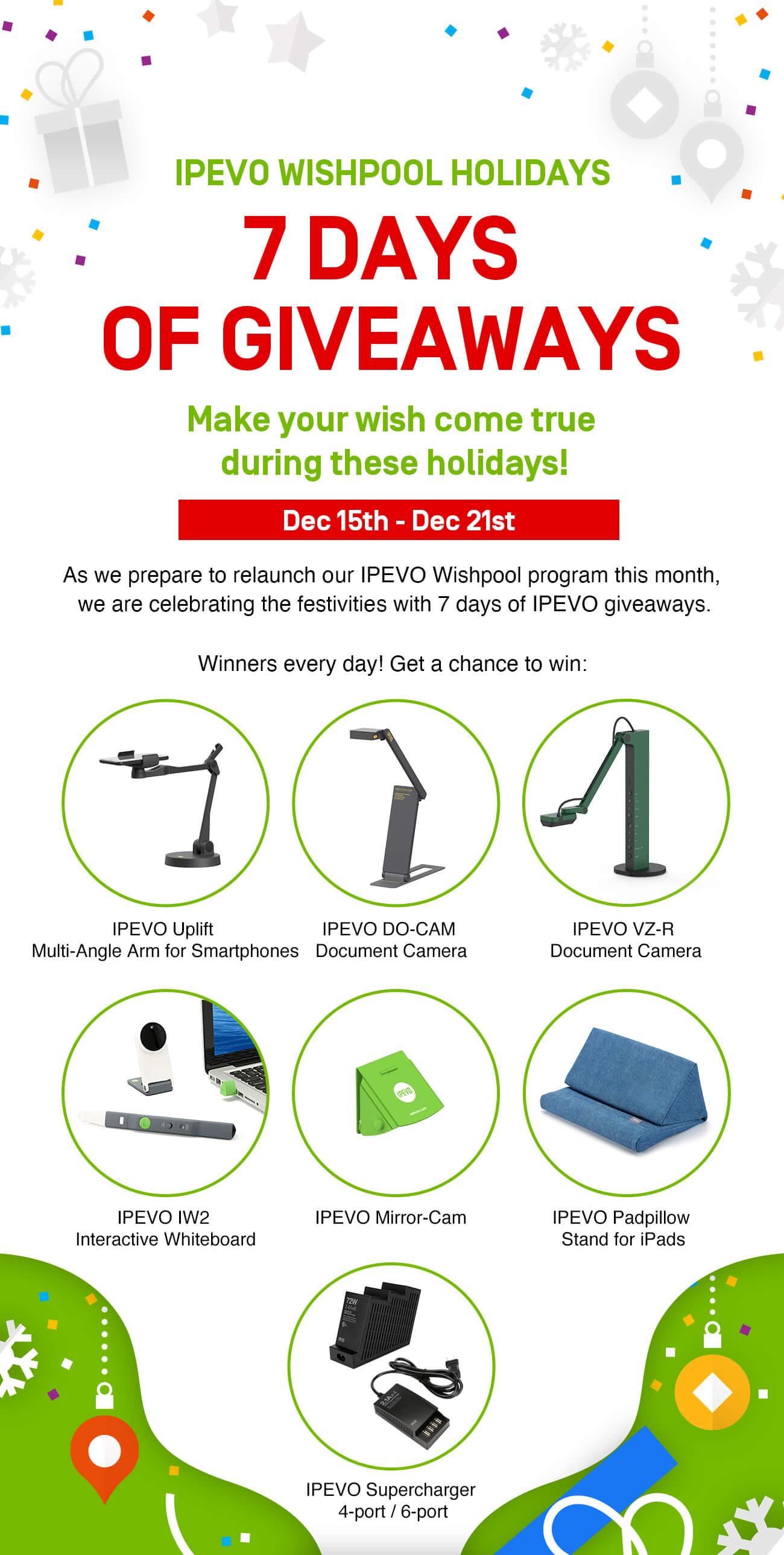 IPEVO Wishpool Holidays 7-Days of Giveaways